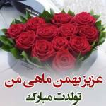عکس نوشته تبریک تولد به بهمن ماهی