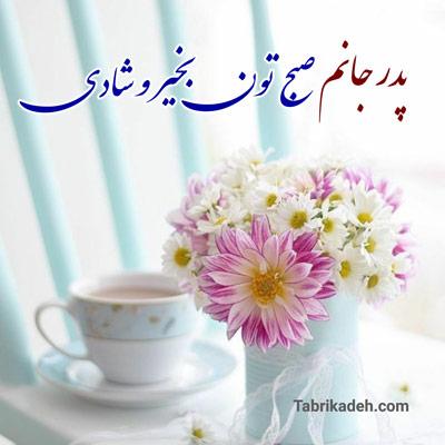 جملات صبح بخیر پدر عزیزم + عکس نوشته صبح بخیر به پدر